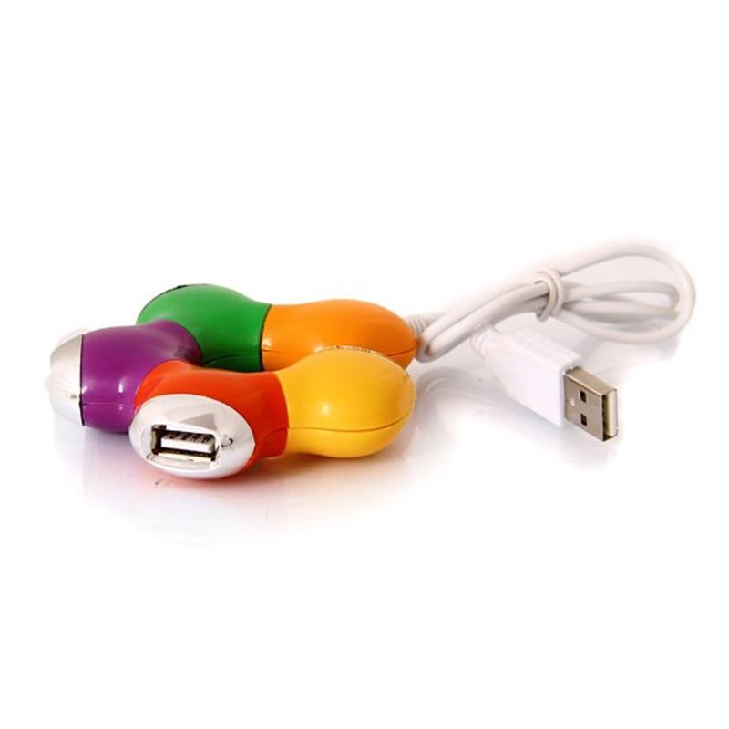 هاب USB2 کامپیوتر چهار پورت رنگی مدل GR-H04