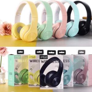 هدفون بی سیم Bluetooth wireless headphones p68