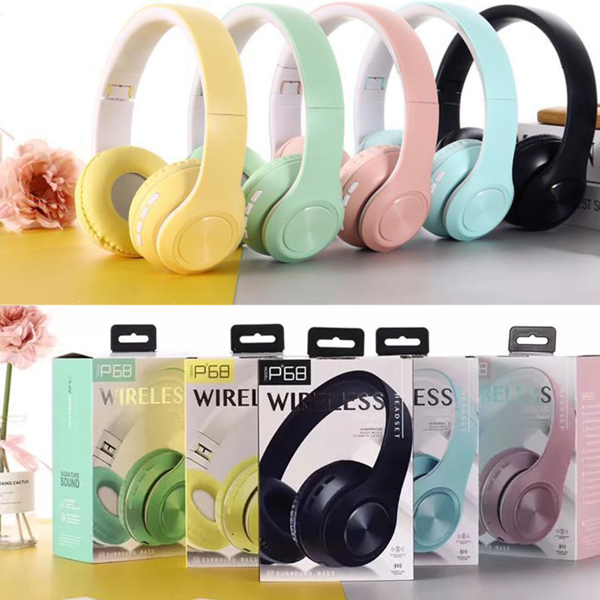هدفون بی سیم Bluetooth wireless headphones p68